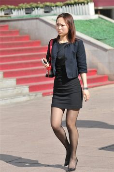 Whether it is the summer months or even wintertime, if perhaps there's something that we generally use, it is Pantyhose Outfits, Black Pantyhose, Tights Outfit, Dress With Stockings, Black Stockings, Girl Outfits, Cute Outfits, Girl Fashion, Womens Fashion