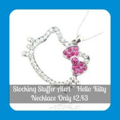 Hello Kitty Necklace Only $2.43 Shipped - Mummy Deal$