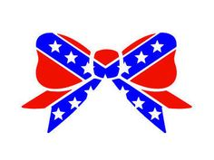 Confederate Flag Bow Decal