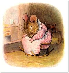 Beatrix Potter - The Tale of Mrs. Tittlemouse - 1910 - Tittlemouse Sleeps in Rocker