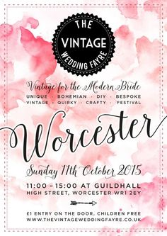 Lilly Dilly's will be attending this fabulous wedding fayre in Oct! #wedding #fayre #bespoke #quirky #luxury #vintage #unique #october #worcester
