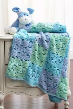 3 Color Crochet Blanket Pattern