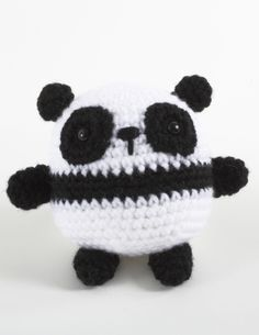 Pablo Panda using  Lion Brand® Vanna's Choice® - free pattern