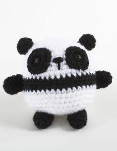 Pablo Panda using  Lion Brand® Vanna's Choice® - free pattern