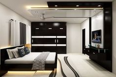 Simple Bedroom Interior design With Cupboard Ideas Bedroom Cupboard Designs, Wardrobe Design Bedroom, Luxury Bedroom Design, Bedroom Furniture Design, Home Room Design, Master Bedroom Design, Interior Design, Bedroom False Ceiling Design, Luxurious Bedrooms