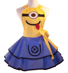 Minion Apron Cosplay Apron by WellLaDiDaAprons on Etsy, $55.00