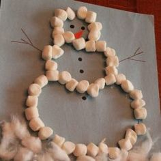 Marshmallow Snowman Craft
