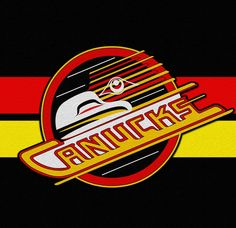 Canucks Old school logo as seen by Andy Everson, Northwest Coast Artist