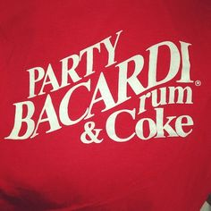 1986 Party Bacardi & Rum Unisex Tee Available Now: http://www.thevintagetwin.com/shop/products.cgi?sku=11611&sex=f