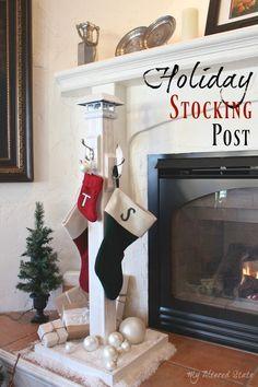 DIY Holiday Stocking Post