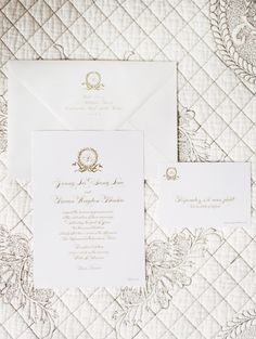 Traditional Gold Wedding Invitations | photography by http://www.claryphoto.com