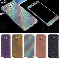 Bling Стикер Чехол Для Samsung Galaxy S7 S 7 Всего Тела наклейку Кожи Bling Блеск Стикер Телефон Обложка Для Galaxy S7 Edge Coque