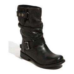 This butter soft flat engineer boot is an essential for all your skinny jean. Available at -sole sisters-.