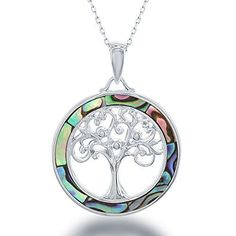 Sterling Silver Tree of Life Abalone Circle Pendant with ... https://www.amazon.com/dp/B01A96VW3S/ref=cm_sw_r_pi_dp_x_vrXRybV2JKQPM
