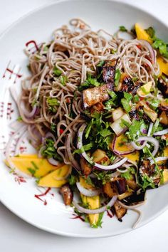 This beautiful dish of Soba Noodles with Aubergine and Mango is a Yotam Ottolenghi classic. Taken from his best-selling Plenty cookbook, it makes a perfect vegetarian main course, or Asian-inspired lunch dish.