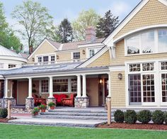 New white trim gives this home a fresh look. More inexpensive ways to boost curb appeal: http://www.bhg.com/home-improvement/exteriors/curb-appeal/curb-appeal-on-a-dime/?socsrc=bhgpin080812newwhitetrim#page=17