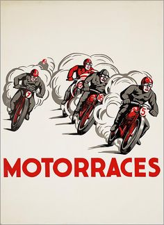 motor races #illustration #motorcycles | caferacerpasion.com
