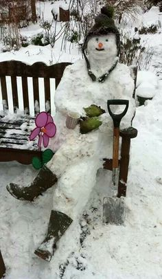 "Snowman on Bench-""VANCE, IS THAT YOU?"""