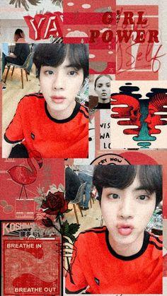 Read Jin wallpaper from the story Ảnh BTS by with 892 reads. Namjin, Seokjin, K Pop, Taehyung, Sea Wallpaper, Fanart, Halloween Wallpaper, Bts Lockscreen, Red Aesthetic