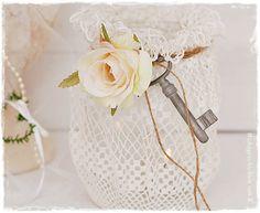 Windlicht #Shabby Chic #Vintage #Hochzeitsdeko #Tischdeko #Hochzeit ...