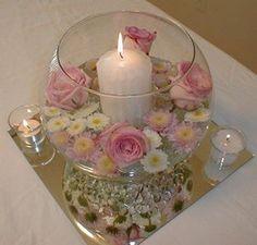 Centro de mesa para cumpleaños velas