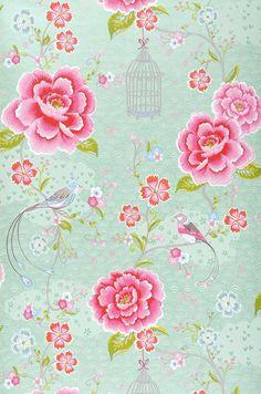 Amina | Romantic wallpaper | Wallpaper patterns | Wallpaper from the 70s