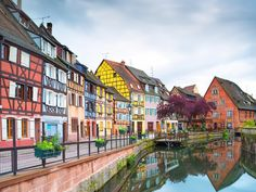 "Picturesque Colmar has a section known as ""Little Venice,"" thanks to the small canals that cut elegant lines past candy-colored houses. And locals aren't the only ones inspired by Colmar's beauty: some people believe the town was the model for Belle's village in Disney's Beauty and the Beast."