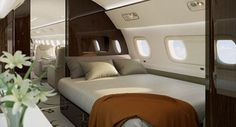 As the Lineage 1000E is  the longest executive jet, it has space for a comfortable double bed