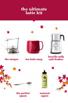 Everything you need to make yourself a decadent latte!