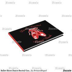 Ballet Shoes Dance Recital Custom Guest Book; ArtisanAbigail at Zazzle