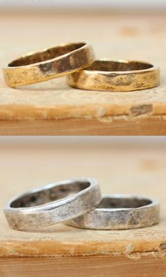 Hammered Ring Band. Made to match the Nunn Design collection. Choose from 2 beautiful colors. Soft metal can be stamped. Base metal is pewter. Size: 7 Sold as single. Choose your color. Available Colo