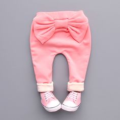 Cool 2016 spring autumn Winter Pants Girls Kids Sweet Big Bow Cotton Cute Pp Long Pant comfortable baby Clothes Children Clothing - $24.84 - Buy it Now!