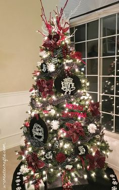 Chalkboard Plaid Christmas Tree by MichaelsMakers U Create