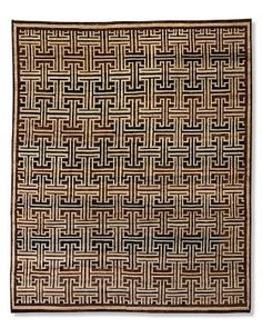 Bold Lattice Hand-Knotted Rug #williamssonoma
