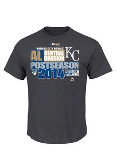 Kansas City Royals T-Shirt - Charcoal KC Royals 2014 Wild Card Locker Room Short Sleeve Tee http://www.rallyhouse.com/mlb/al/kansas-city-royals/a/special-event?utm_source=pinterest&utm_medium=social&utm_campaign=Pinterest-KCRoyals $24.99
