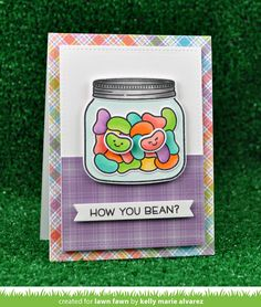 card lawn fawn jelly beans candy sweet greeetings mason jar the Lawn Fawn blog: CHA Sneak Week 2017 -perfectly plaid paper