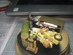 Pic 2 with table and items from Tamiya's 1/35 WWII U.S. Field Maintenance Yard
