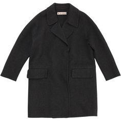 Grey Wool Coat MARNI (20.430 RUB) ❤ liked on Polyvore featuring outerwear, coats, jackets, wool coats, marni coat, woolen coat, gray coat and marni