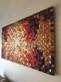 This original art piece is made from reclaimed, recycled or discounted wood. I cut, sanded, stained