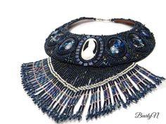 Collier plastron Night Call,bijou de style amérindien Casual Chic, Totem, Cuff Bracelets, Swarovski, Jewelry, Native American, Rose Gold, Letters, Ethnic Looks