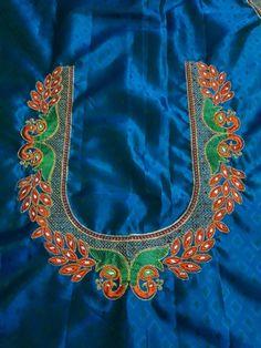 Wedding Saree Blouse Designs, Best Blouse Designs, Simple Blouse Designs, Saree Blouse Neck Designs, Stylish Blouse Design, Neckline Designs, Traditional Blouse Designs, Kurti Sleeves Design, Embroidery Neck Designs
