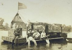 [Rafting Party] by Unidentified. Search the Smithsonian American Art museum collection, one of the world's largest and most inclusive collections of art made in the United States. American Folk Music, American Art, Vintage Music, Museum Collection, Vintage Pictures, Vintage Photographs, Rafting, Art Studios, Old Photos