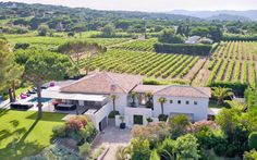 Aerial view of a beautiful #property in #Saint #Tropez