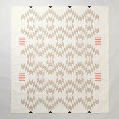 Meg Callahan Flax Quilt | contemporary quilts by Terrain