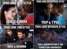 Trek love.  OK I know  B'Elanna was Tom's true love but I couldn't resist this