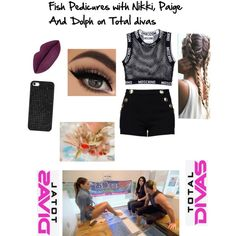 fish pedicures with Nikki,Paige and Dolph on TD by baileyxxwwe on Polyvore featuring Moschino, Boutique Moschino, BaubleBar and Episode