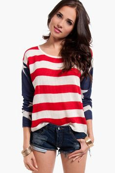 My new sweater! Can't wait for it to come in! God Bless America Sweater $35 at www.tobi.com