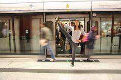 #subway #yoga with Rebecca Pacheco/Omgal.com