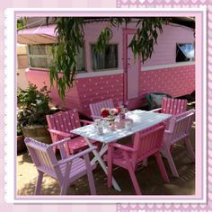 """""""Rosie"""" Seriously pink Vintage camper glamper caravan - Miss Lily Bliss Vintage Rv, Vintage Caravans, Vintage Travel Trailers, Vintage Pink, Retro Trailers, Camper Trailers, Retro Caravan, Retro Campers, Vintage Campers"""