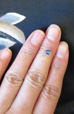 Swarovski Crystal Knuckle Ring Silver Knuckle by PurplePoemCraft, $10.00